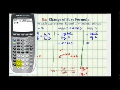 Ex:  Change of Base Formula to Evaluate Logarithmic Expressions