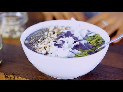 Cauliflower Blueberry Smoothie Bowl (Vegan)