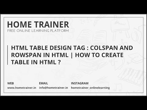 HTML Table Design Examples & Tags : Colspan and Rowspan in HTML | How to Create Table in HTML ?????