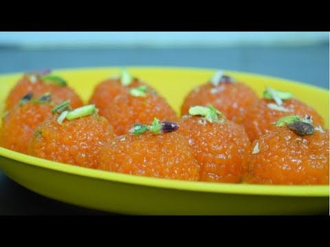 Motichoor ladoo recipe | motichur laddu recipe | motichoor laddu