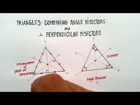 Triangles: Comparing Angle Bisectors and Perpendicular Bisectors