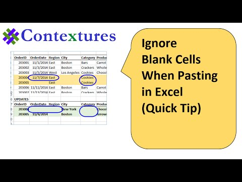 Ignore Blank Cells When Pasting in Excel: Quick Tip