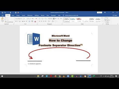 how to change, modify, and delete footnote separator in a word document