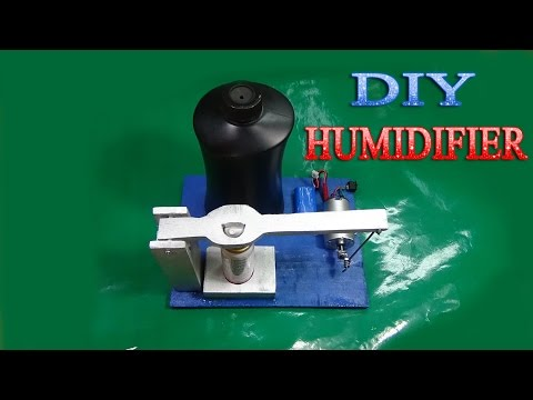 How to make humidifier from spray simple at home very fun