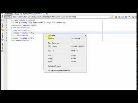 make id as primary key with auto increment  in java db database