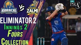 Karachi Kings  Fours   Karachi Kings Vs Peshawar Zalmi    Eliminator 2   21 March   HBL PSL 2018