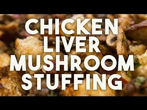 Chicken LIVER & Mushroom STUFFING - Easy, crunchy and delicious recipe