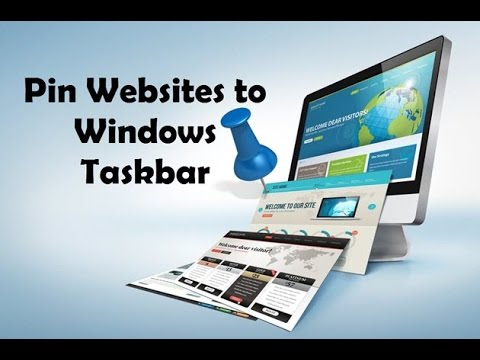 How To Pin Your Favorite Website To Windows Taskbar?