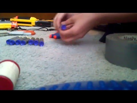 How to make a Nerf dart belt like a pro (2013)