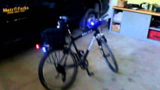 My police bike lights.