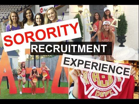 Sorority Recruitment | My Experience ♡