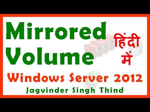 RAID 1 Server 2012 - Disk Mirroring in Hindi - RAID 1 सर्वर 2012 - हिंदी में डिस्क मिररिंग