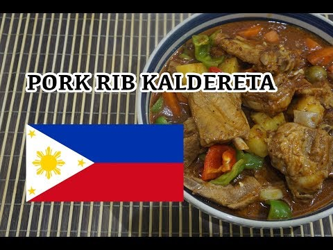 🇵🇭 Pork Ribs Kaldereta - Pinoy Tagalog Filipino Recipe - Pork Caldereta