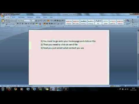 How to send files via msn