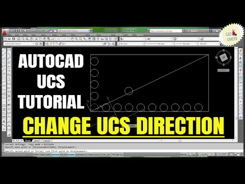 User coordinate System in Autocad || Autocad UCS || change the direction of UCS in AutoCAD