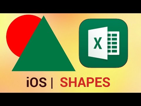 How to Create and Manipulate Shapes in Excel for iPhone