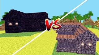 Minecraft: CASA DE BEDROCK VS. CASA DE OBSIDIAN  ‹ JUAUM ›