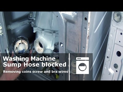 How to clear a blokage in a washing machine cleaning sump hose