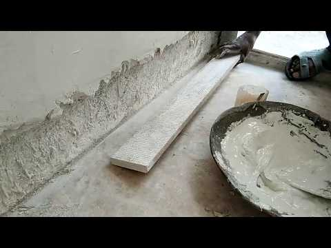How to install Italian marble skirting