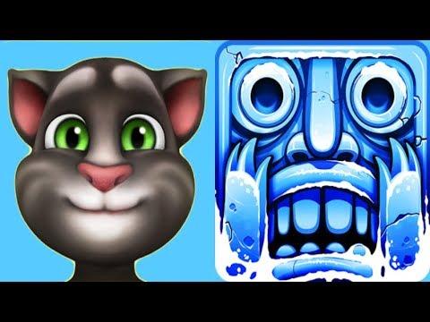 My Talking Tom*Vs.Temple Run 2 Frozen Festival Sigur Frostbeard*Gameplay make for Kid #265