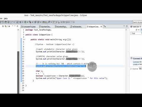 Java Tutorial - isUpperCase() method to find if the character is a letter