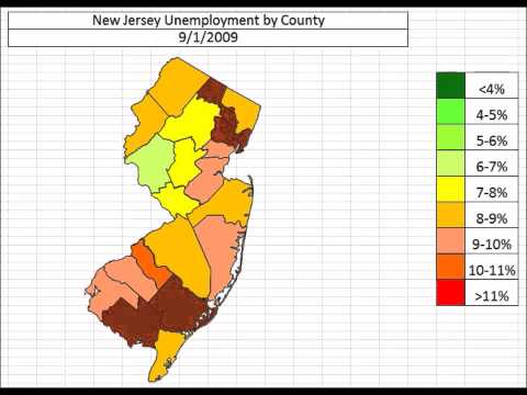 New Jersey Unemployment By County October 2013