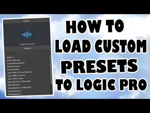 How to Load Custom Vocal Presets Into Logic Pro X (EASY)
