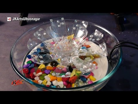 DIY How to make waterfall from waste material | TableTop Waterfall / Fountain | JK Arts 1031