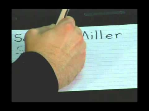 Teaching Kids to Write Their Name