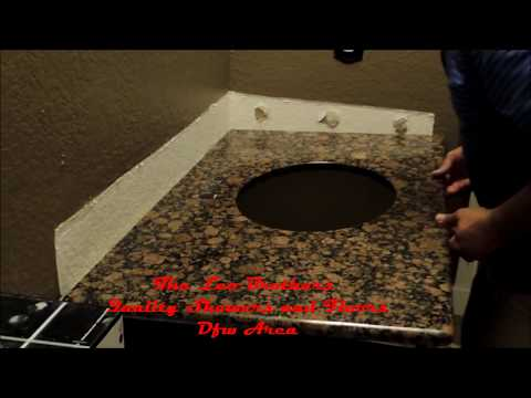 DiY install a Granite Vanity Top with Sink