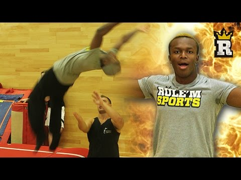 KSI DOES THE PERFECT BACKFLIP!!!   Rule'm Sports