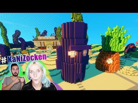 NINA REAGIERT AUF BIKINI BOTTOM VON SPONGEBOB SCHWAMMKOPF in Minecraft! Kaan gibt ihr Nachhilfe!