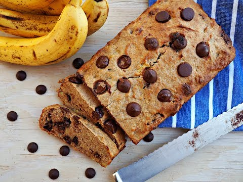 Breakfast Recipe: Healthy Banana and Dark Chocolate Bread by Everyday Gourmet with Blakely