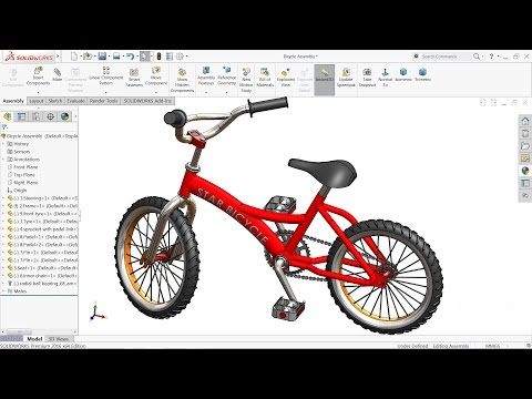 Solidworks tutorial | Design and Assembly of Bicycle in Solidworks