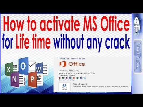 MS Office 2016 life time activation without key . No patch or Crack