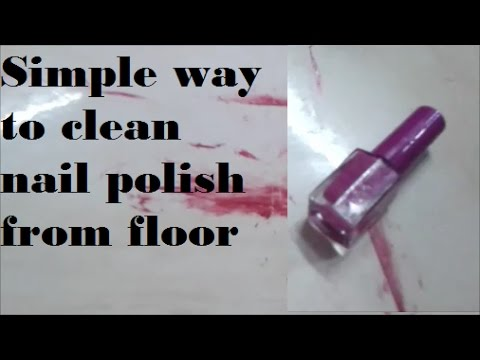 Simple way to clean nail polish from floor