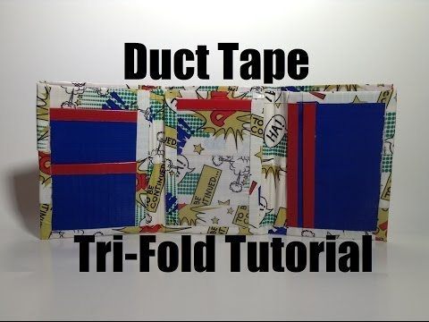 How to Make a Duct Tape Tri-Fold Wallet Tutorial DIY