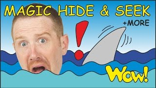 Magic Hide and Seek + MORE Funny Short Stories for Kids from Steve and Maggie | Wow English TV