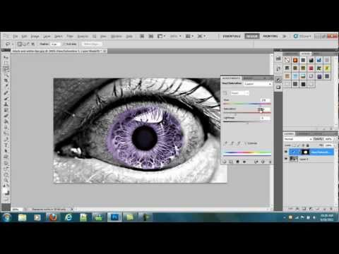 Photoshop Cs5 - How to Change Eye Color