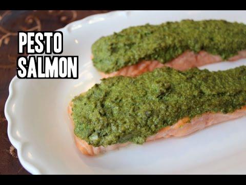 The Easiest Pesto Salmon Recipe