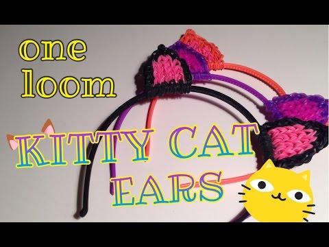 Rainbow Loom Kitty Cat Ears Hair Head Band Halloween Costume One Loom
