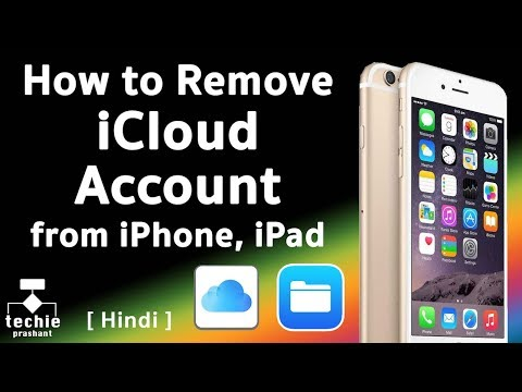 How to Remove iCloud Account from iPhone, iPad. HINDI