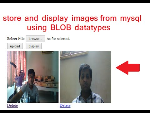 PHP: store and view and delete images from mysql database  (BLOB datatypes)