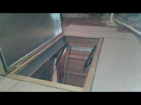 Insulated attic door