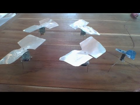Quad motor helicopter Vs Single motor helicopter, homemade mini helicopters