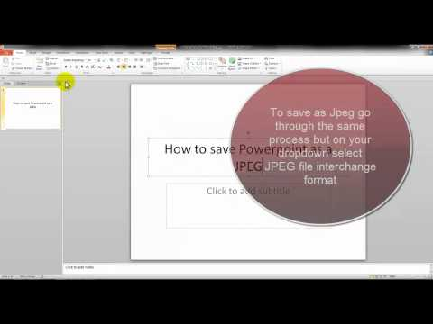 How to save file as PPTX or JPEG (Powerpoint)