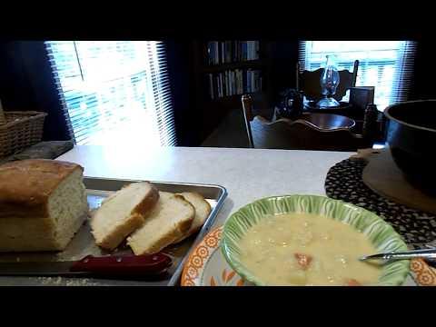 Cheap Meal Monday Grandma's Potato Soup  with Homemade Bread