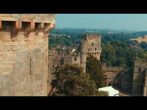 Warwick Castle UK, dji Phantom footage