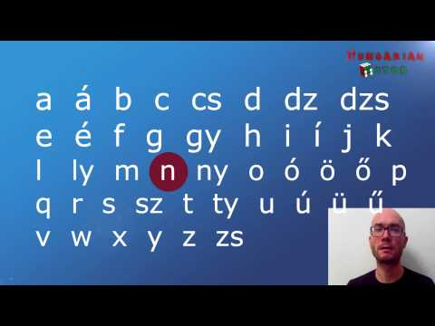 The sounds of the Hungarian alphabet
