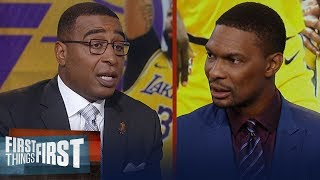 Chris Bosh believes it won't take long for LeBron, AD to gel & get better | NBA | FIRST THINGS FIRST